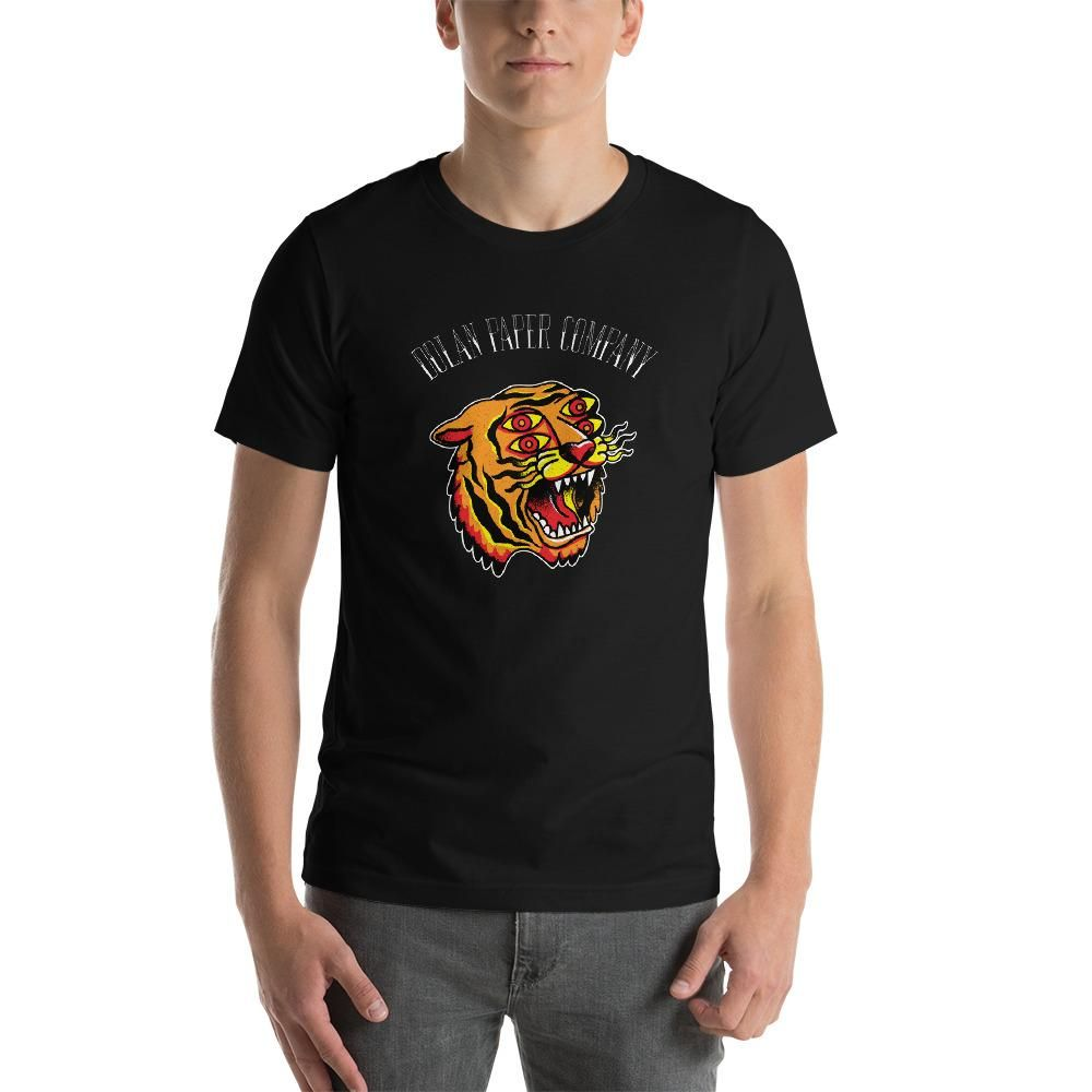 DPC American Traditional Tiger Tattoo T-Shirt – X-Large / Black