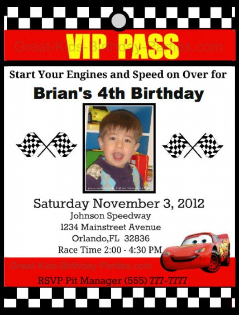 Disney Cars Invitations Templates Free 2 mcqueen birthday party