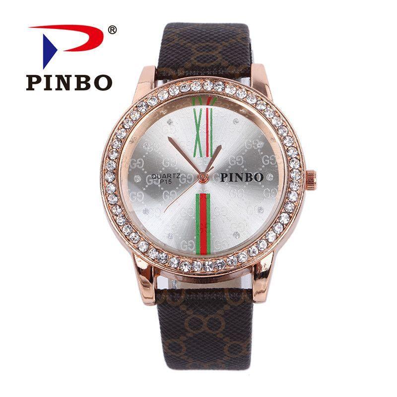 2016 new luxury brand Womens Casual quartz watch diamond watch fashion simple free delivery