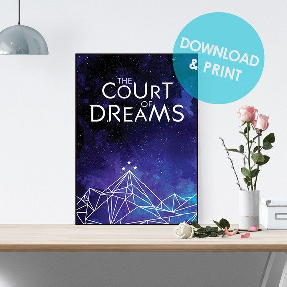 Acowar Printable Poster A Court Of Dreams Acomaf Mist And