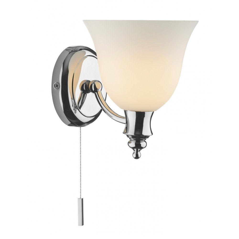 Oboe Ip44 Rated Chrome Bathroom Wall Light Bathroom Wall Lights Wall Lights Wall Light With Switch