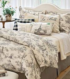 French Country Toile Bedding Sets The Look Curtains D And Drapery
