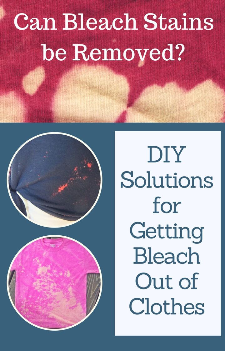 how to fix bleach stains on dark clothes