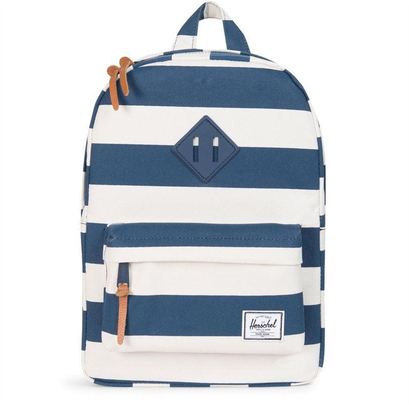 5a7c5201a84 Herschel Heritage Kids Backpack Navy Natural Stripe Navy Rubber ...