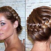 Tranças embutidas em cabelos curtos