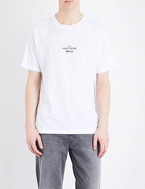 8891314c488 STONE ISLAND Archive print cotton-jersey T-shirt | AW1718 | Stone ...
