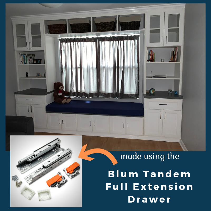 Blum Tandem Full Extension Drawer Slides With Blumotion Open A