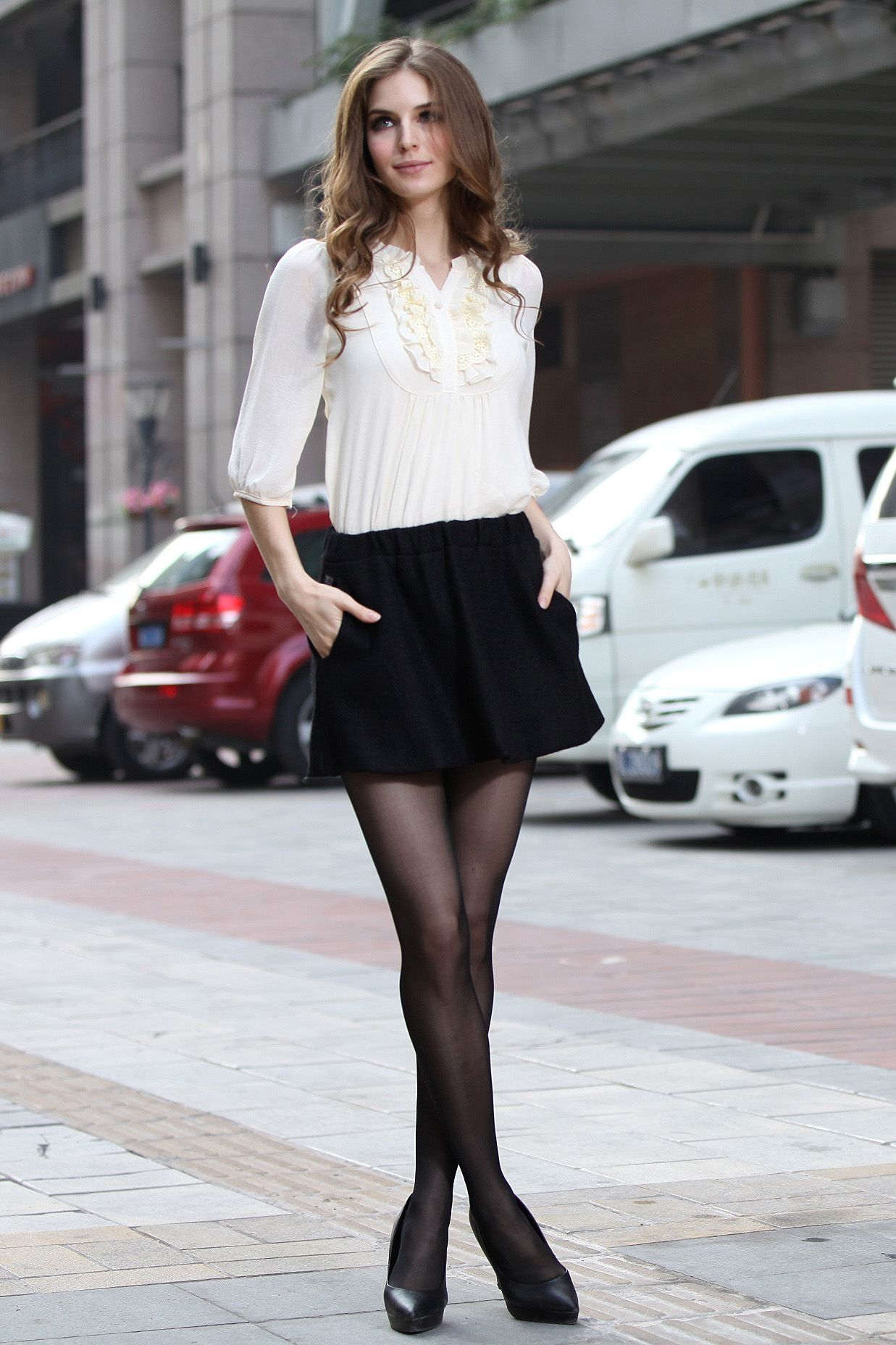 Sweet Apricot Chiffon Blouse Fashion Pics And More In
