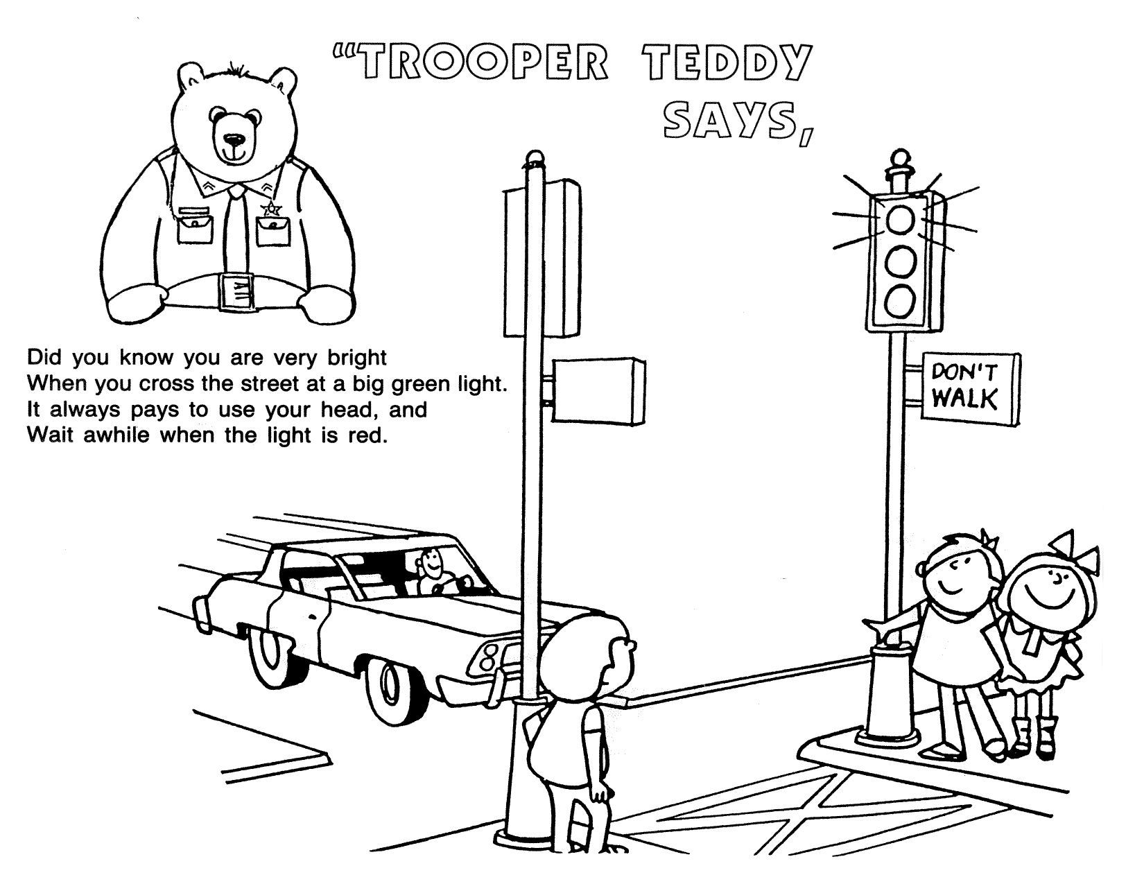 Colouring sheets for road safety - Road Safety Colouring Google Search