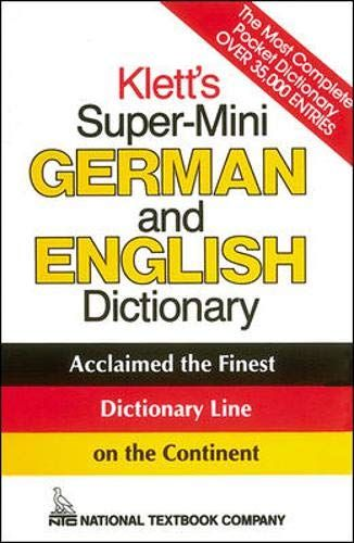 Klett's SuperMini German and English Dictionary by Erich