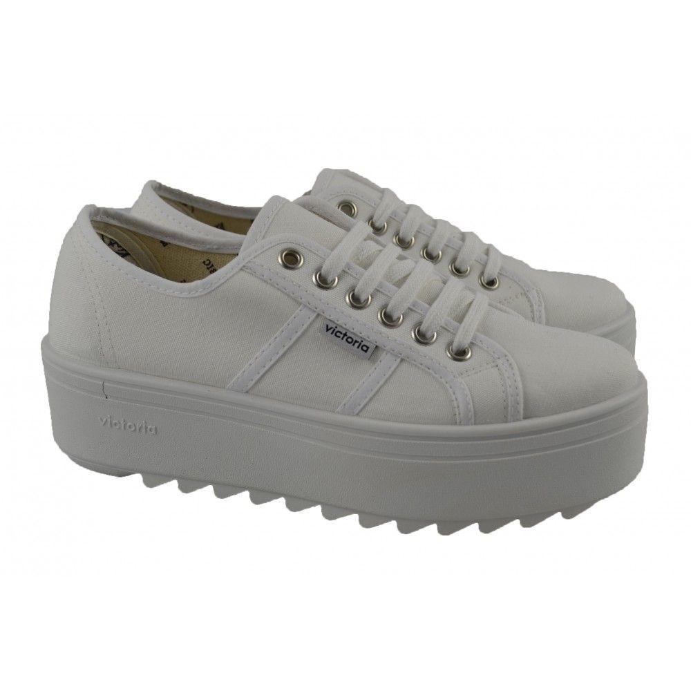 new product bef73 f1a52 Zapatillas plataforma lona blanca VICTORIA   Zapatos Online   Calzado Mujer