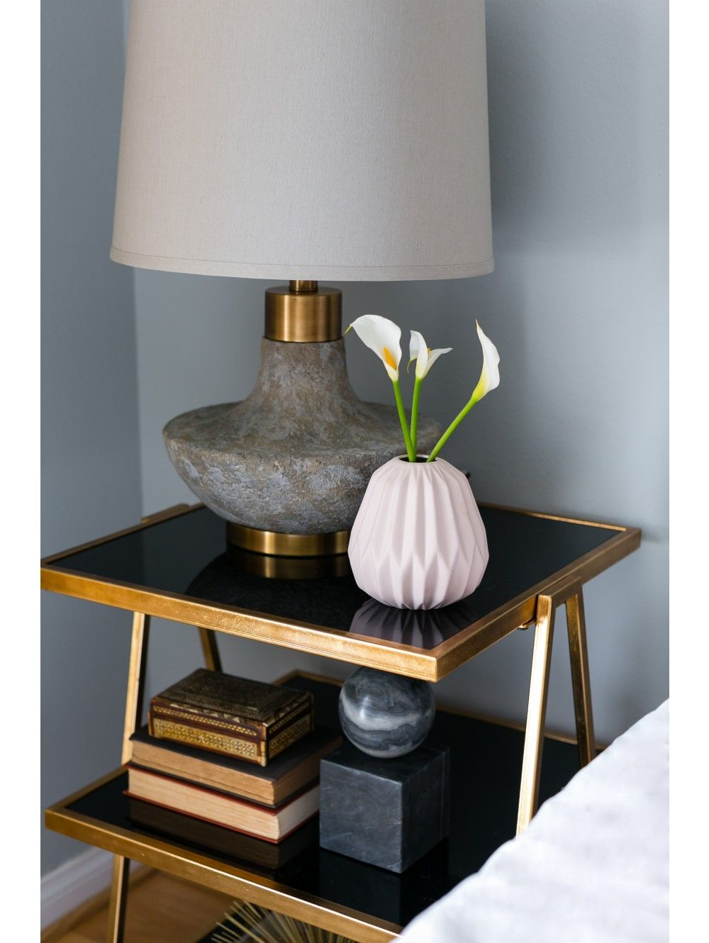Aita table lamp stone