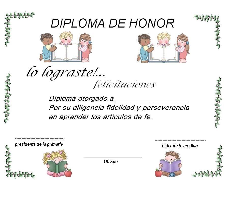 holamormon1: Diploma para los articulos de fe | Primaria | Pinterest ...
