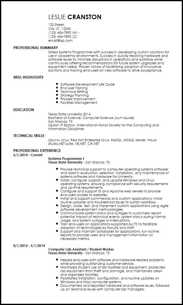 Free Entry Level Programmer Resume Templates Resume Now Entry Level Resume Resume Design Template Resume Templates
