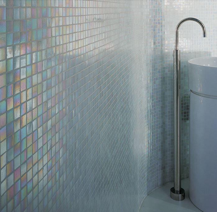 Glasfliesen, Glas Fliesen, Glasmosaik Villi Bathroom Pinterest - badezimmer fliesen mosaik