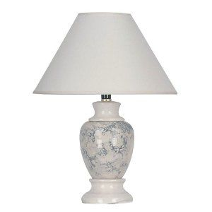 ORE International 609IV 15 Ceramic Accent Table Lamp, Ivory --- http://waif.biz/1f5