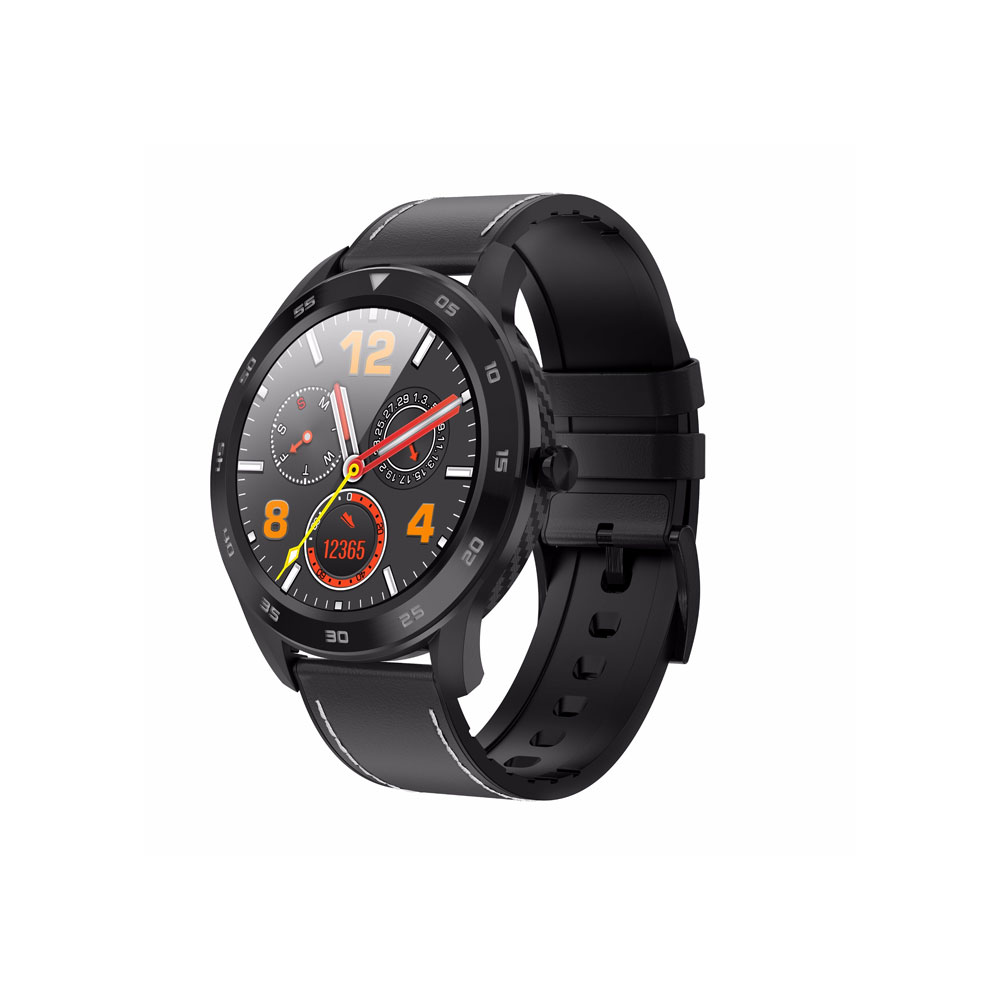 DT98 Full Round HD Screen Sports Smart Watch Bluetooth Call ECG Heart Rate Blood O2 Monitor IP68 Waterproof Fitness Tracker-Black