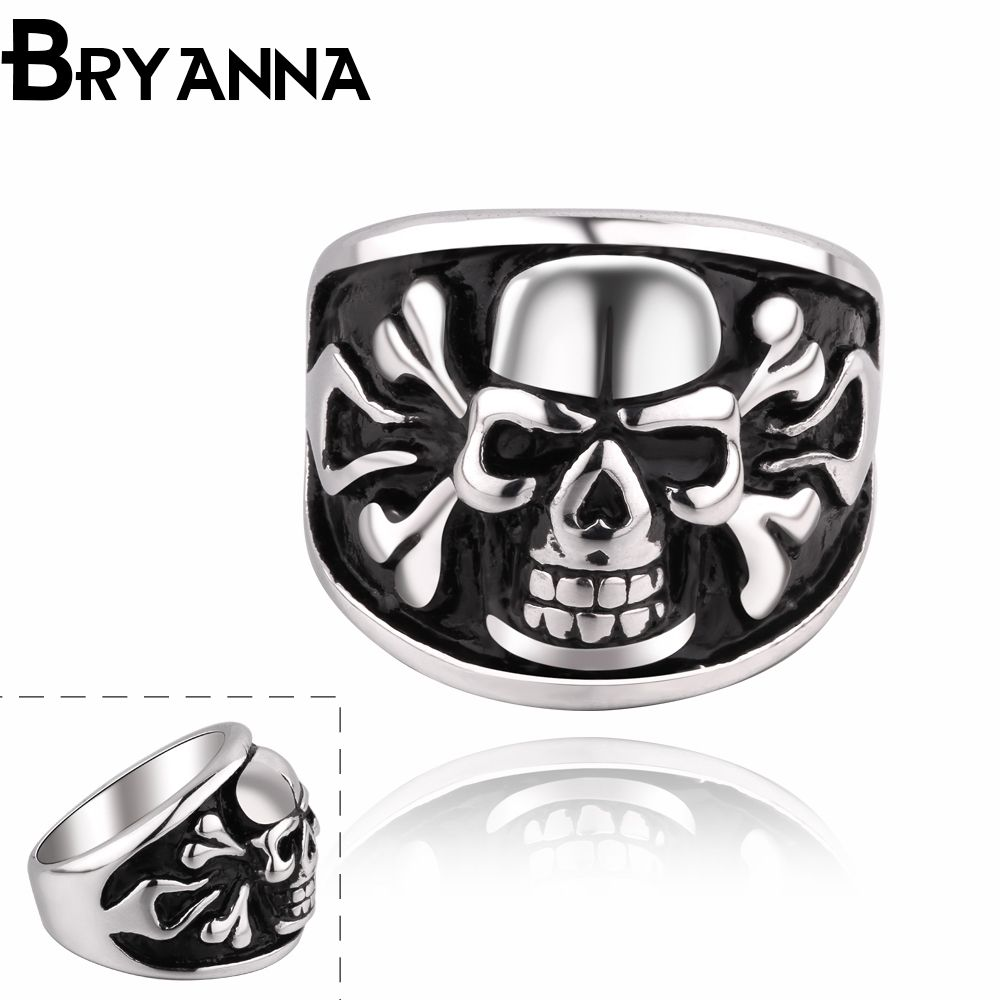 stainless blossom skull rings indian steel online peach store with nose product on skeleton piece ring