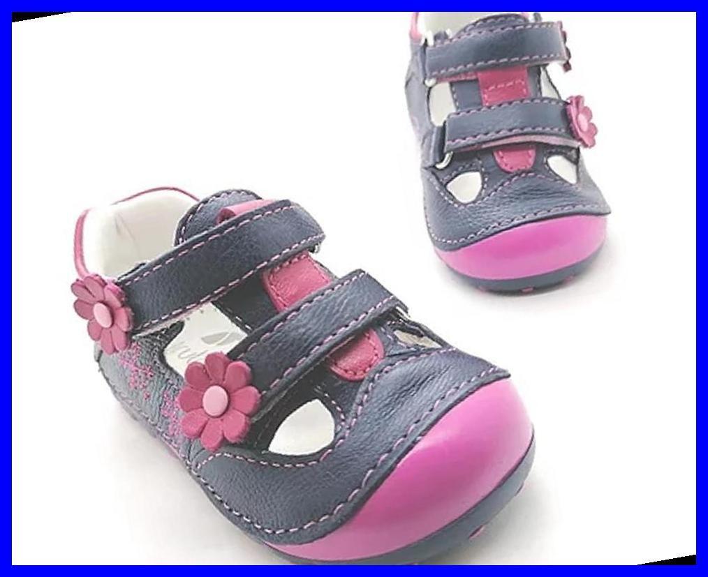 Genuine Leather Pink Velcro Blue Color Toddler Kid