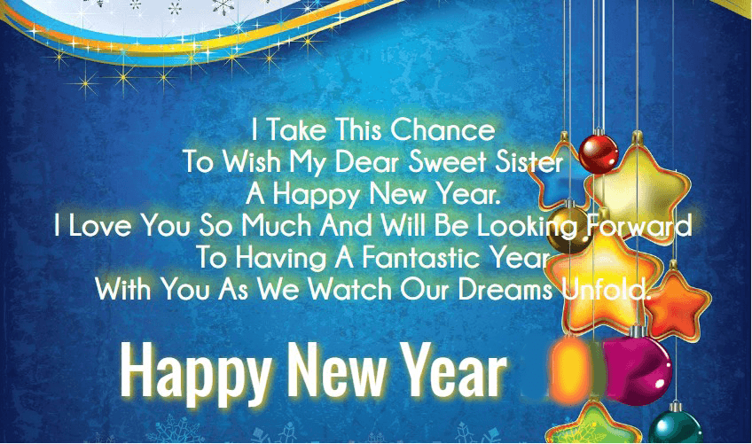 happy new year 2019 wishes for sister in law