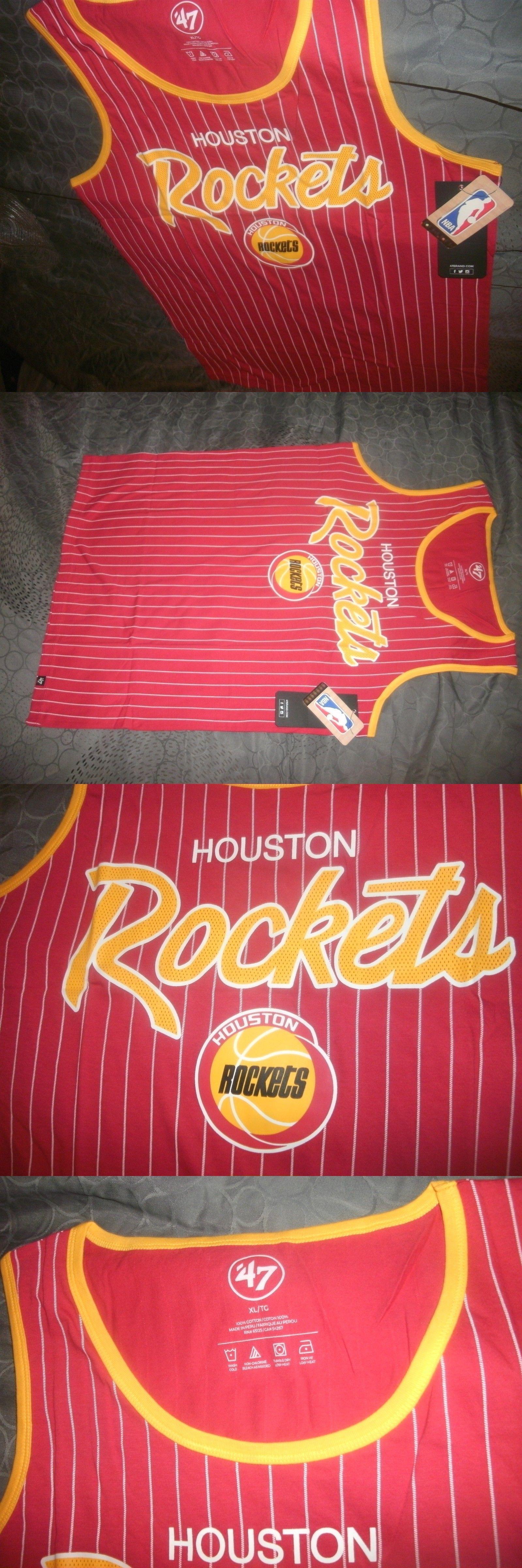 33e15bab0608eb Clothing 158964  Nba Men S 47 Houston Rockets Pinstripe Tank Top ...