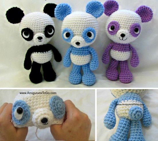 Panda Crochet Patterns The Cutest Collection | Ganchillo, Modelo y ...