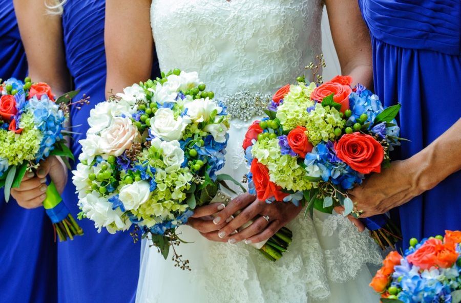 bridesmaid bouquets  Wedding at Arlington Heights United Methodist and The Fort Worth Club