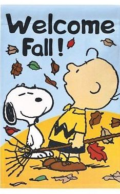 Pin By Relda Glasson On Peanuts Welcome Fall Fall Flags Charlie Brown And Snoopy