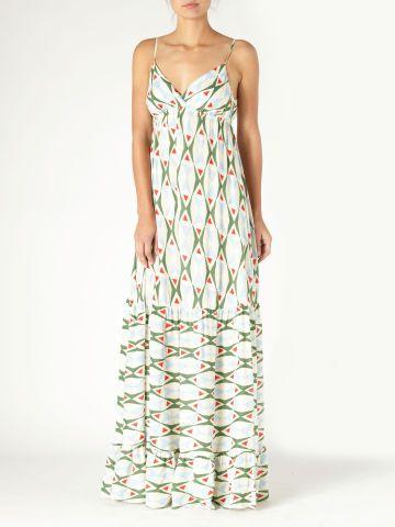 Tiki Tile Maxi Dress