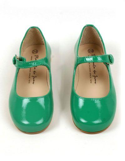 Green shiny Mimi shoes
