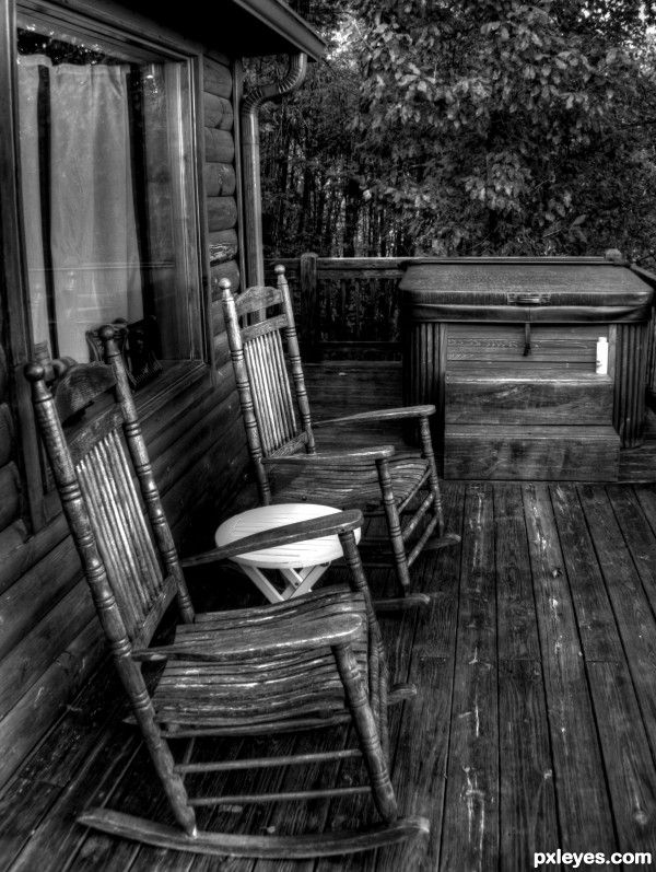Sitting In An Old Rocker On The Porch Time Stands Still