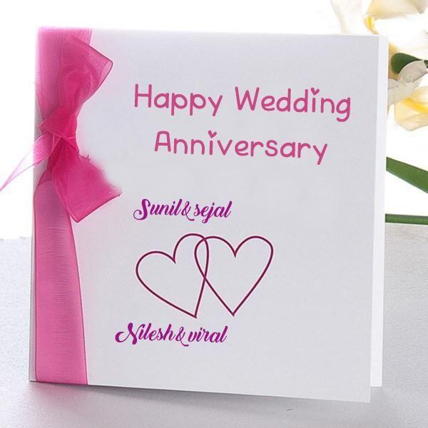 Online Wedding Anniversary Name Wish Card Edit Photo Happy Wedding Anniversary Cards Happy Anniversary Cards Marriage Anniversary Cards