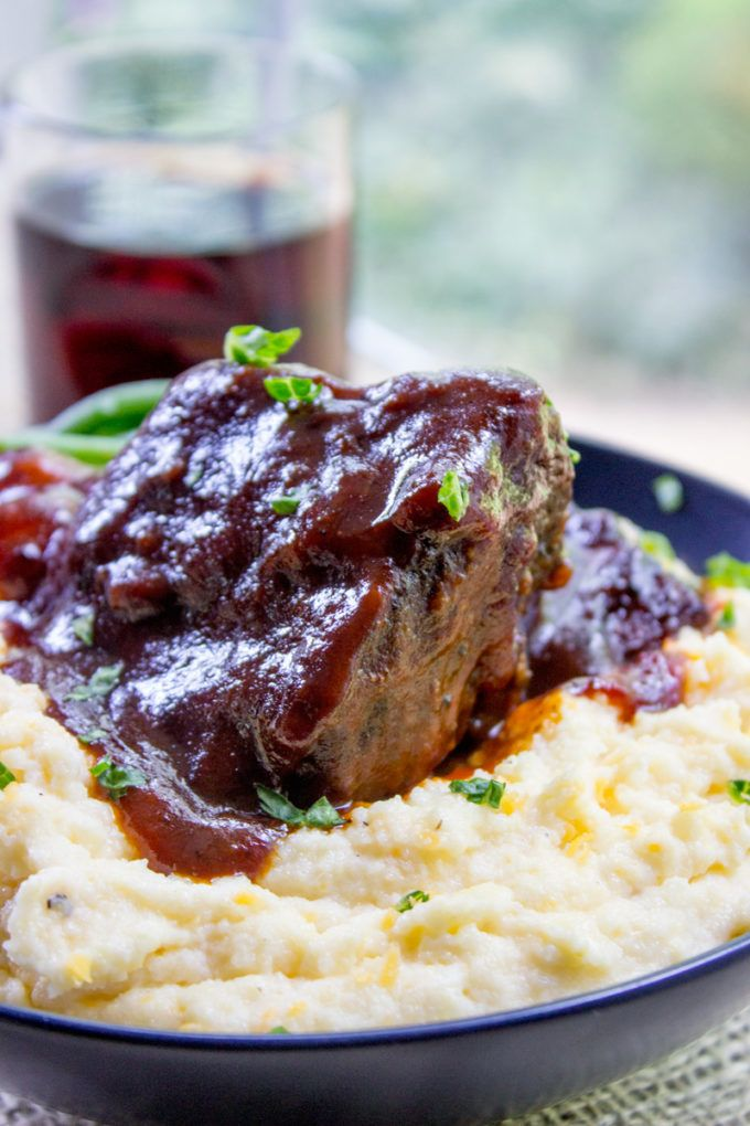 Easy Braised Short Ribs are my shortcut way to enjoy crazy tender oven braised short ribs without the hour of prep before they go in the oven that I normally have for dinner parties.