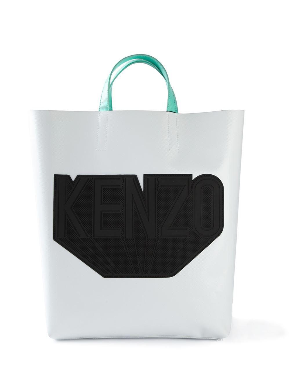 b82565a8 Kenzo Logo Patch Tote - Tom Greyhound - Farfetch.com   Bags ...