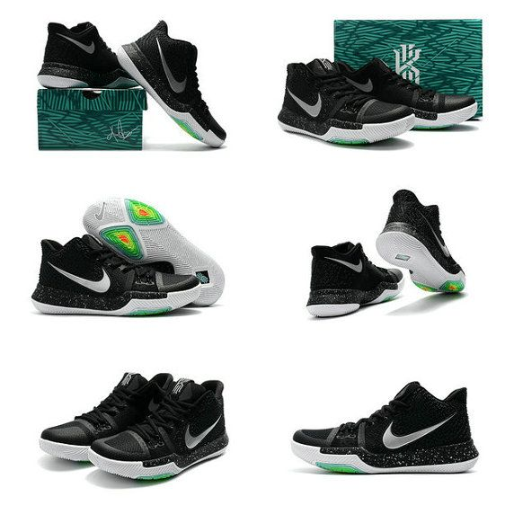 newest decb1 30e22 Size 10.5 Youth Kyrie 3 III Big Boys Kyrie Irving Shoes 2018 Black White Ice