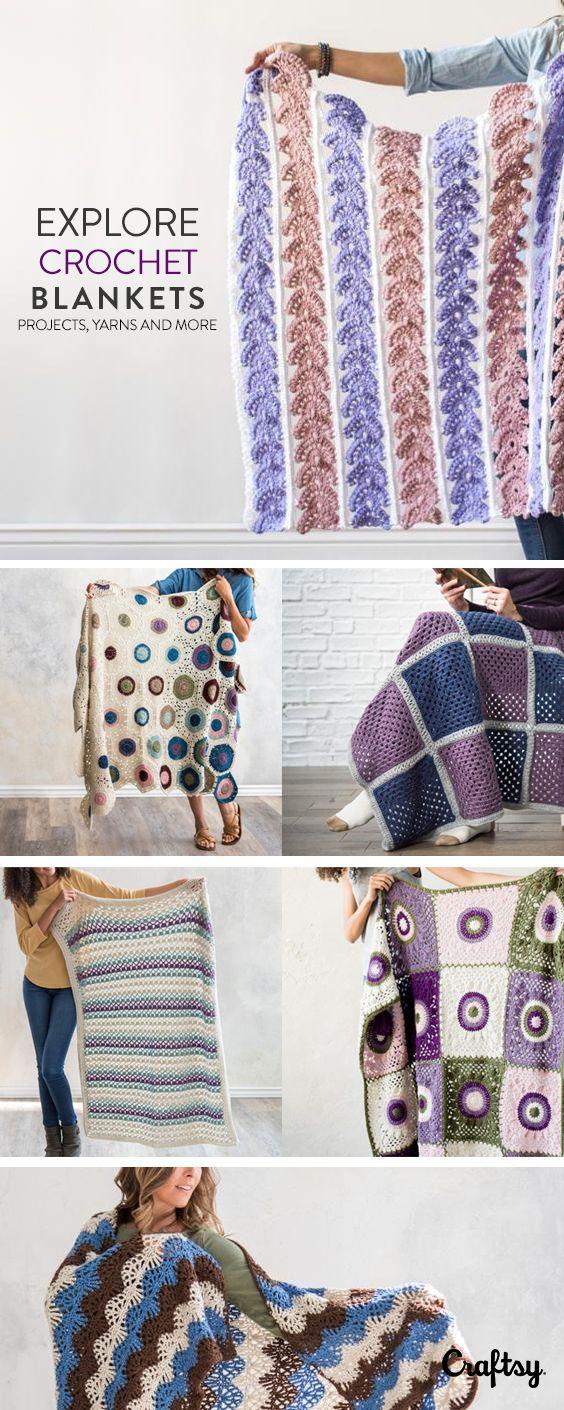 Explore beginner-friendly crochet blanket projects, yarns, videos ...