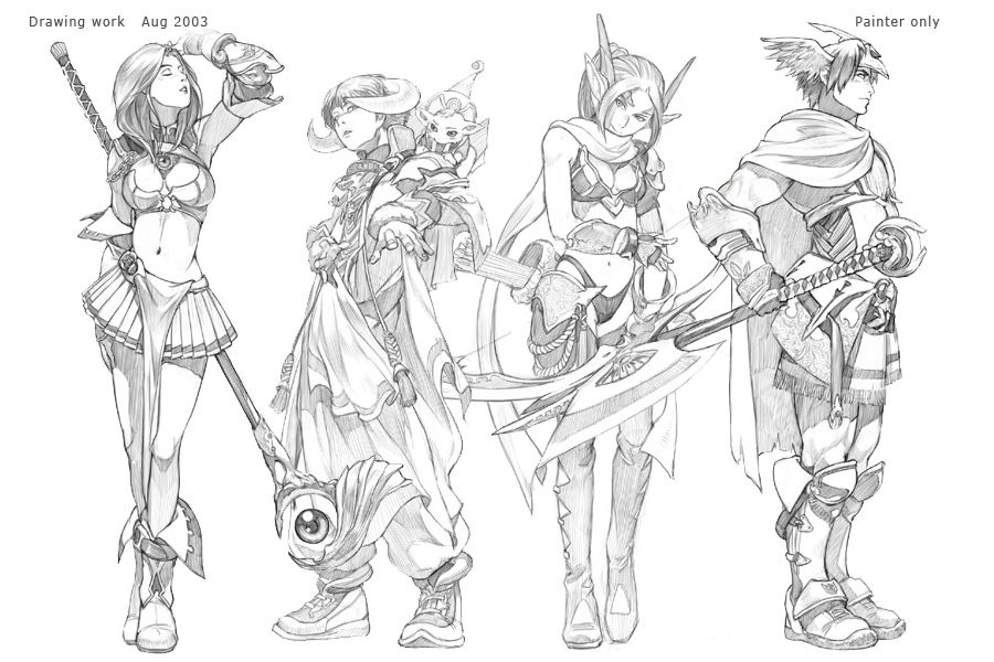 character concept art | Character concept Art work(2) - In 2003, I was given a request from ...
