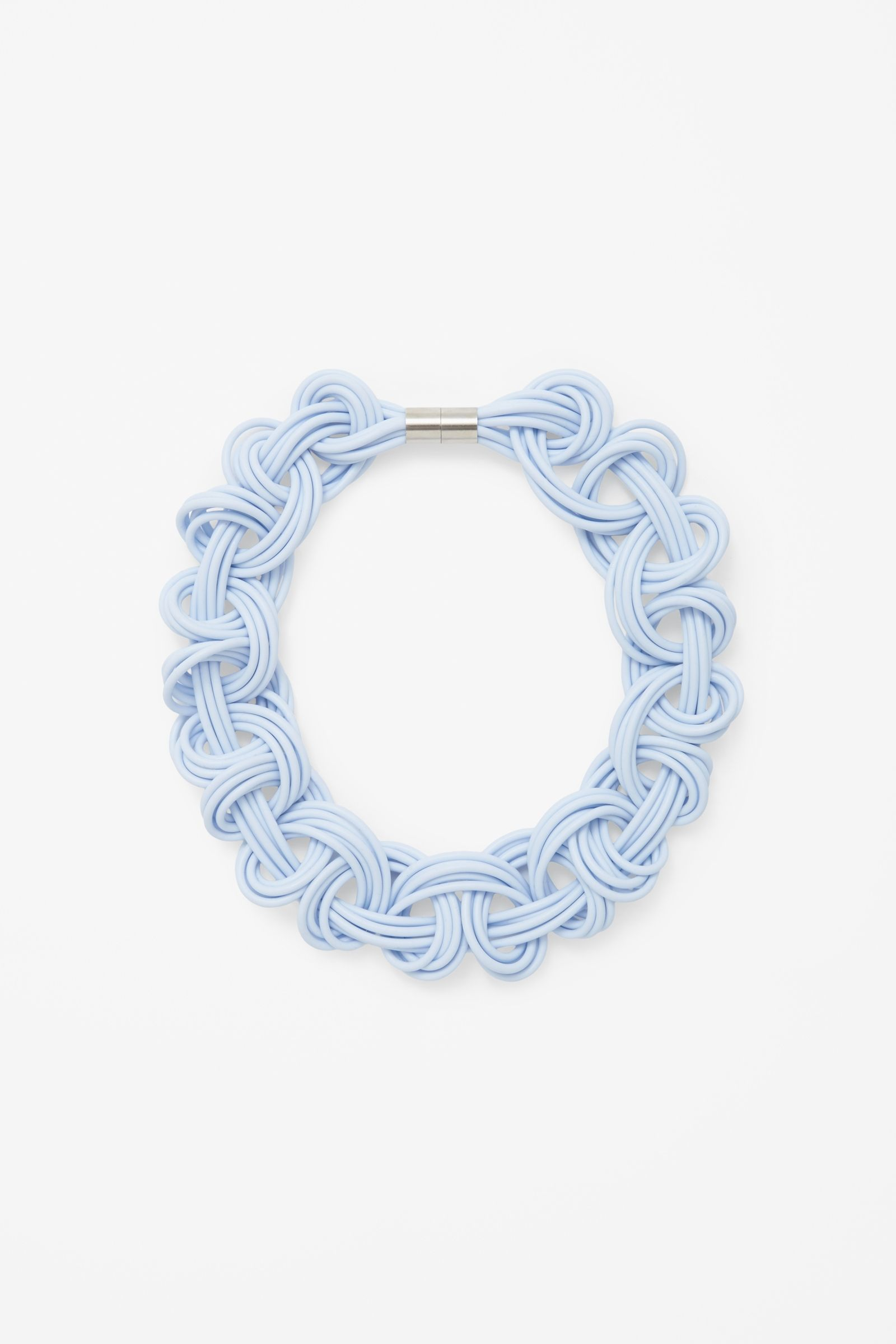Braided loops necklace cos