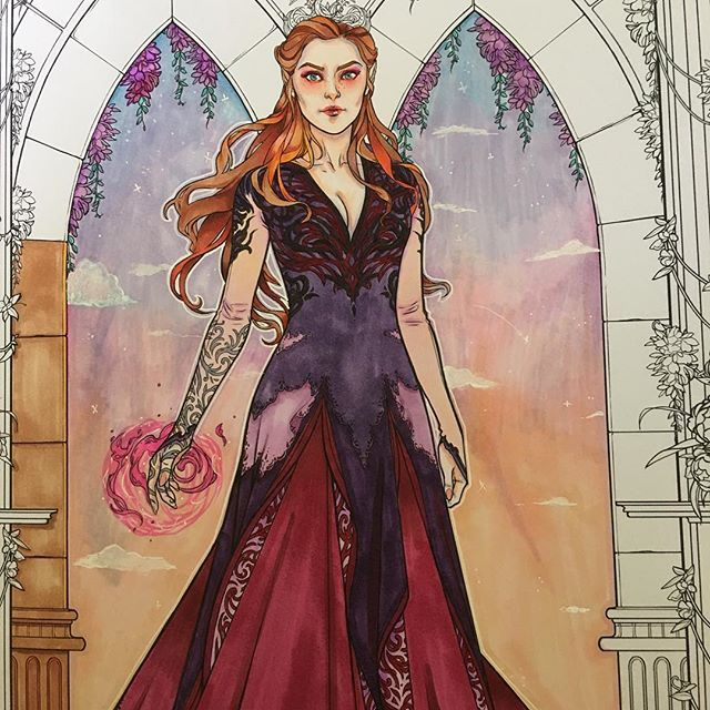 Feyre From The A Court Of Thorns And Roses Coloring Book Rosas Y