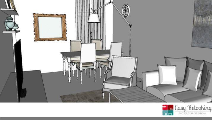 Progettazione soggiorno in stile shabby chic | Livingroom ...