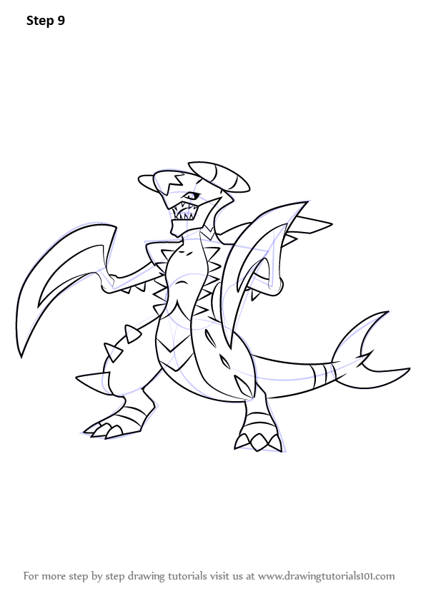 Learn How To Draw Mega Garchomp From Pokemon Pokemon Step By Step Drawing Tutorials Drawings Drawing Tutorial Pokemon