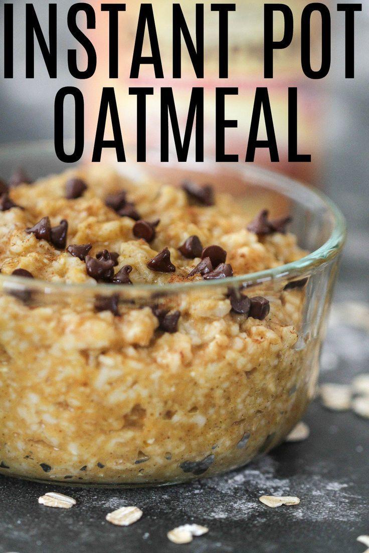 Instant Pot Oatmeal Recipe Instant pot recipes, Food
