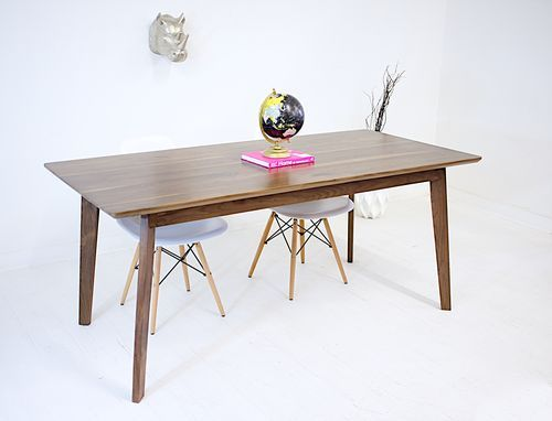 Buy a Hand Crafted The Bossa Nova: Solid Walnut Mid Century Modern Dining Table, made to order from Moderncre8ve | CustomMade.com