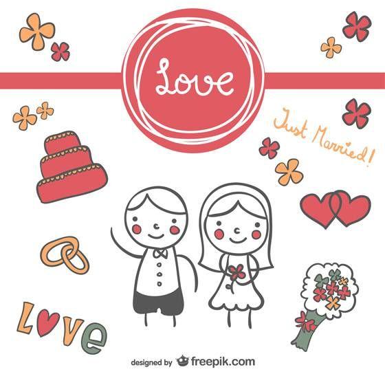 かわいい 結婚式 イラスト 簡単 Khabarplanet Com