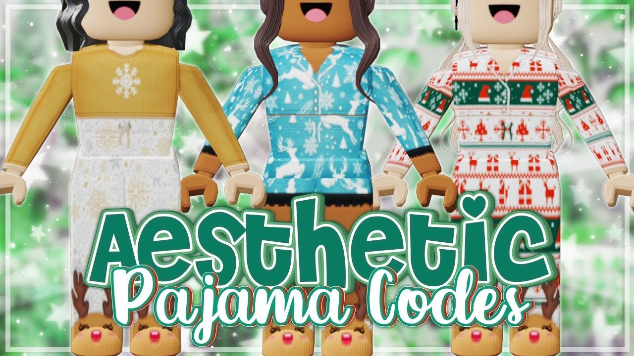 Aesthetic Roblox Christmas Pajama Outfits Codes Links Youtube In 2020 Pajama Outfits Black Hair Roblox Pajamas
