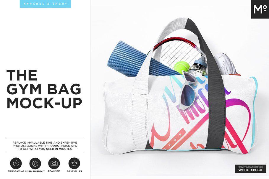 Download Gym Bag Mockup Bag Mockup Mocking Business Card Logo
