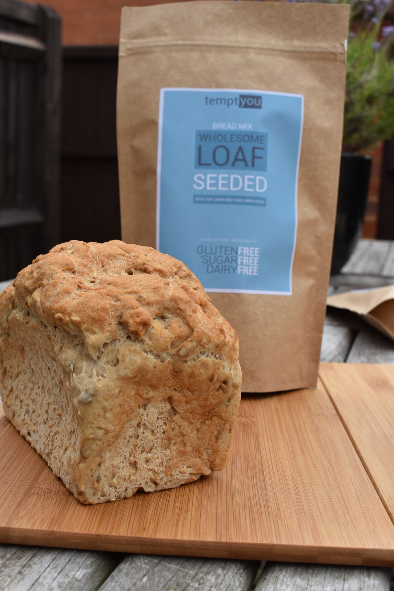 Gluten free dairy free sugar free seeded bread mix from