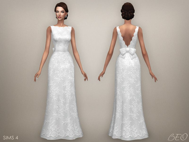 wedding dress - ellie (s4) download | sims 4 | sims 4, sims y sims 4