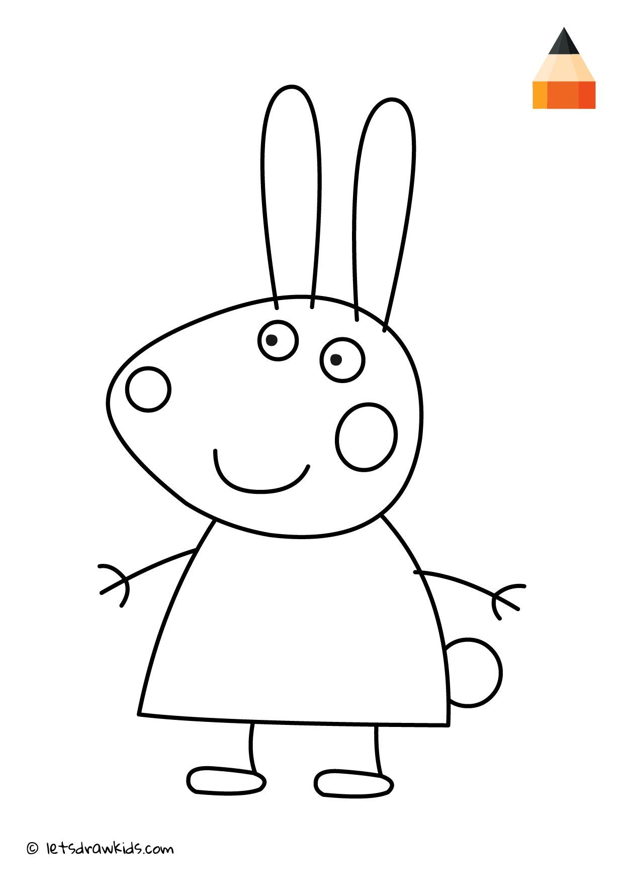 Peppa Pig Coloring Pages Rebecca Rabbit With Images Peppa Pig