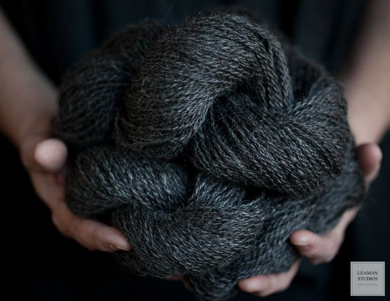 Wensleydale Wool Yarn Natural Black Fine Fiber | knit